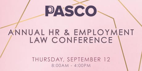 PASCO Annual HR Conference tickets