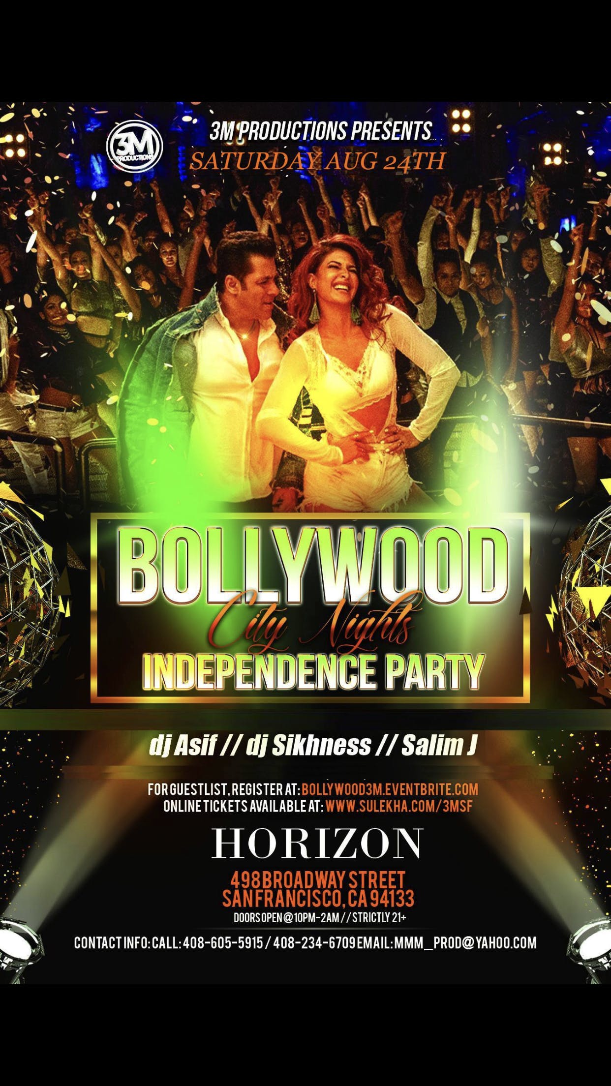 Bollywood City Nights - Independence Party in SF at Horizon