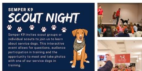 Semper K9's Service Dog Presentation- Scout Night - October 22 tickets