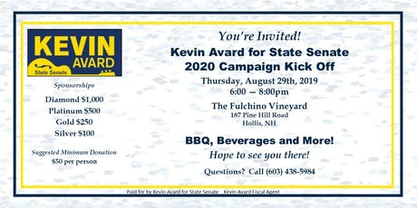 Kevin Avard for NH State Senate - 2020 Campaign Kick Off BBQ tickets