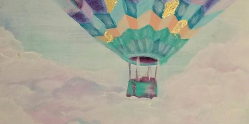Hot Air Balloon Painting and Gold Leaf Class