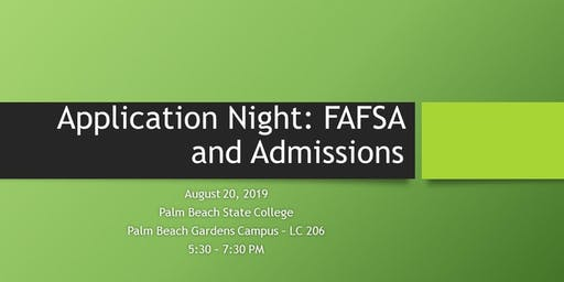 TRiO EOC Application Night: FAFSA and Admissions