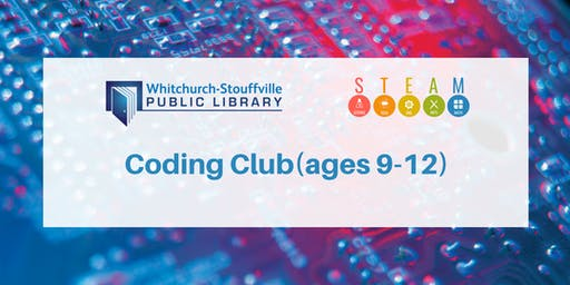 Coding Club (ages 9-12)