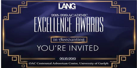 2018-2019 Academic Excellence in Accounting Awards Dinner tickets