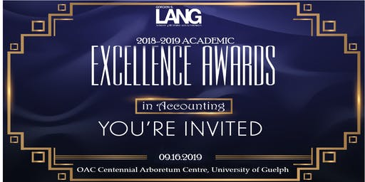 2018-2019 Academic Excellence in Accounting Awards Dinner