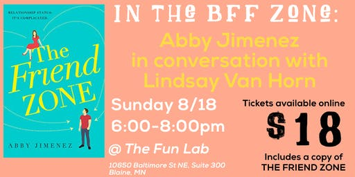 In the BFF Zone: Abby Jimenez in conversation with Lindsay Van Horn