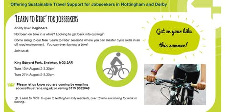 'Learn to Ride' for jobseekers tickets