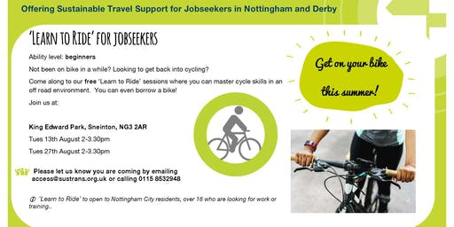 'Learn to Ride' for jobseekers