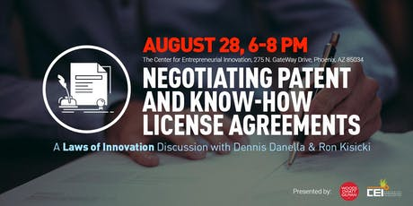 Laws of Innovation Series: Negotiating Patent and Know-How License Agreements tickets