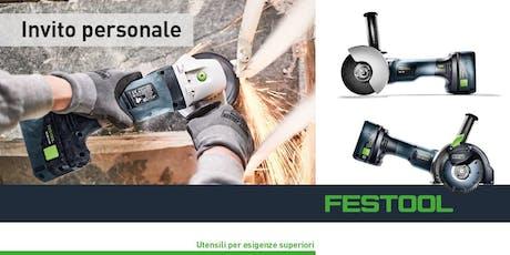 Evento nuovi prodotti Festool - COLUSSO S.a.s biglietti