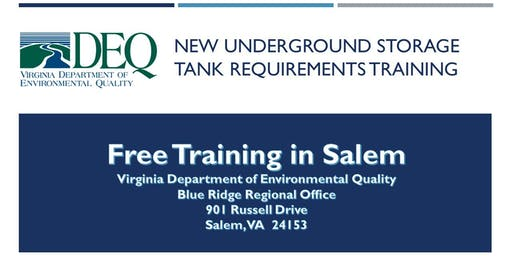 Underground Storage Tank Regulation Training - Salem