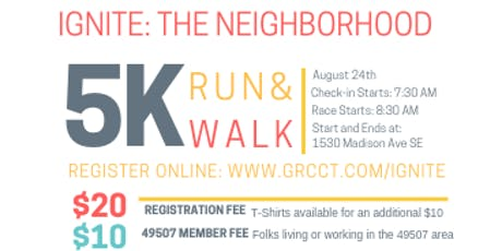 Ignite: The Neighborhood 5k tickets