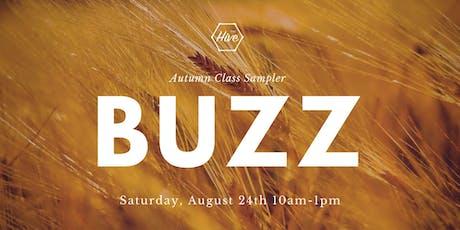 Buzz: Autumn Class Sampler tickets