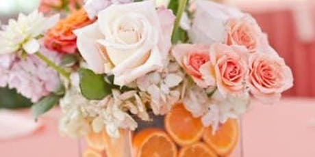 Summer Citrus Flower Arrangement 8/25 @10:00AM tickets