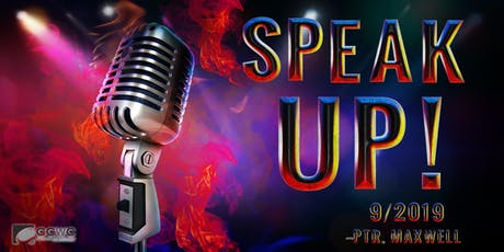 Speak Up- Be a Voice in the Community! tickets