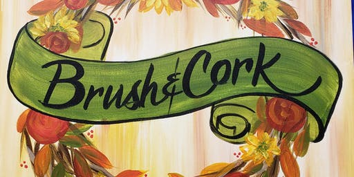 Welcome-Name Wreath Painting Party at Brush & Cork