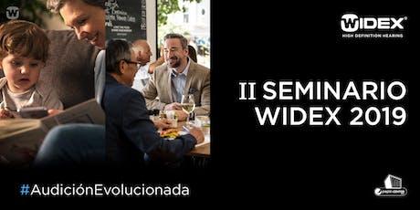 II Seminario Widex 2019 boletos