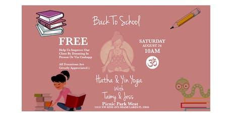 ( FREE ) Hatha & Yin Yoga w/ Taimy & Jess * AUGUST 24 * tickets