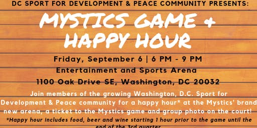 Mystics Game + Happy Hour (SOLD OUT)
