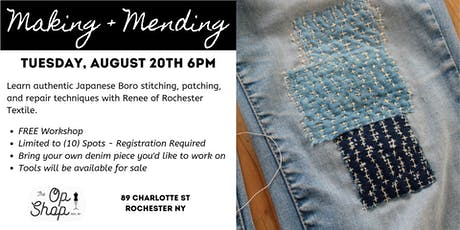 Making + Mending Japanese Boro Workshop tickets