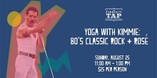 Yoga and Wine Tasting with Kimmie: 80's Classic Rock and Rose