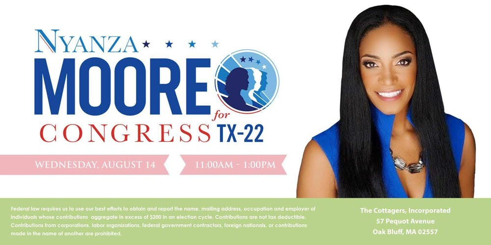 Friends of Nyanza Moore for Congress Tickets, Wed, Aug 14, 2019 at