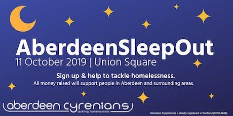 Aberdeen SleepOut 2019 tickets