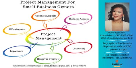 Project Management For Small Business Owners (2) tickets