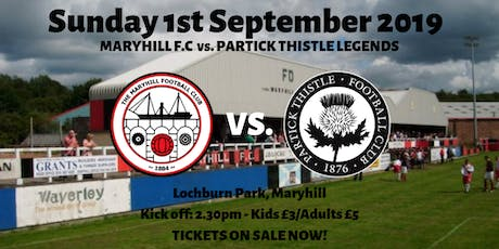 Maryhill FC vs Partick Thistle Legends tickets