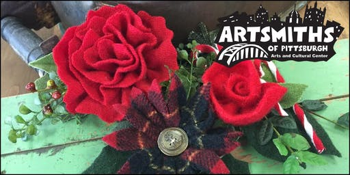Wearable Wool Holiday Flowers with Nan Loncharich