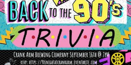 90's Pop Culture at Crank Arm Brewing tickets
