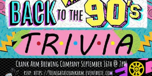 90's Pop Culture at Crank Arm Brewing
