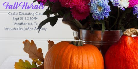 Fall Florals Cookie Decorating Class tickets