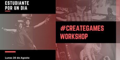 #CreateGames Workshop entradas