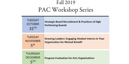 PAC Workshop -  Growing Leaders: Engaging Student Interns in Your Organization for Mutual Benefit