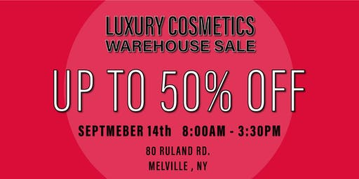 Special Invitation Warehouse Sale - SEPTEMBER 14, 2019