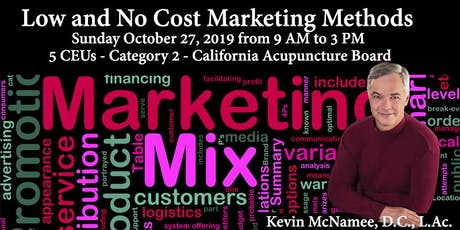 Low and No Cost Marketing Methods  tickets