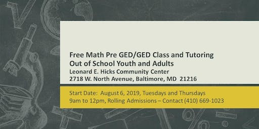 Free Math Tutoring/Math GED Prep for Teens and Adults