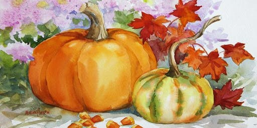 Watercolor Workshop: Pumpkins & Candy Corn