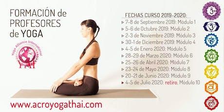 Módulo de formación de Yoga 7-8 de Septiembre en Barcelona entradas
