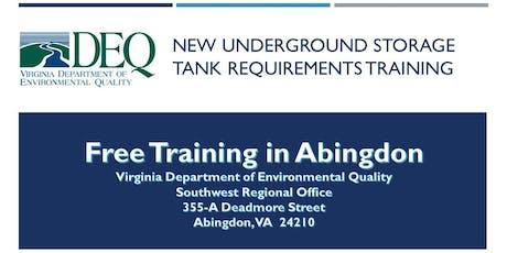 Underground Storage Tank Regulation Training - Abingdon tickets