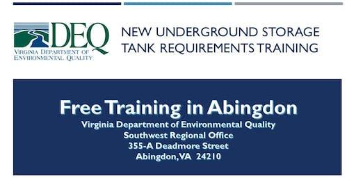 Underground Storage Tank Regulation Training - Abingdon