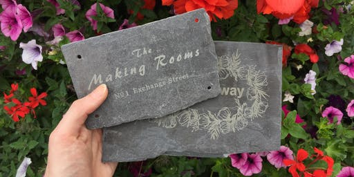 Make Your Own Slate Sign
