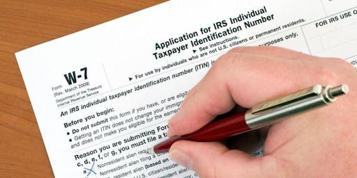 ITIN (Individual Taxpayer Identification Number) Workshop 10/18/2019