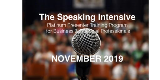 The Speaking Intensive November 2019