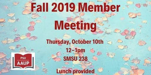 Fall 2019 Member Meeting with Guest: Howard Bunsis