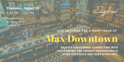 Join us for a Networking Event at Max Downtown!