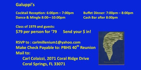 Pompano Beach High School Class of 1979 40th Reunion BLAST tickets