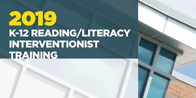 K-12 Reading/Literacy Interventionist Training