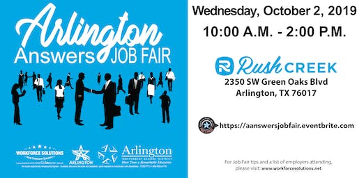 Arlington Answers Fall 2019 Job Fair